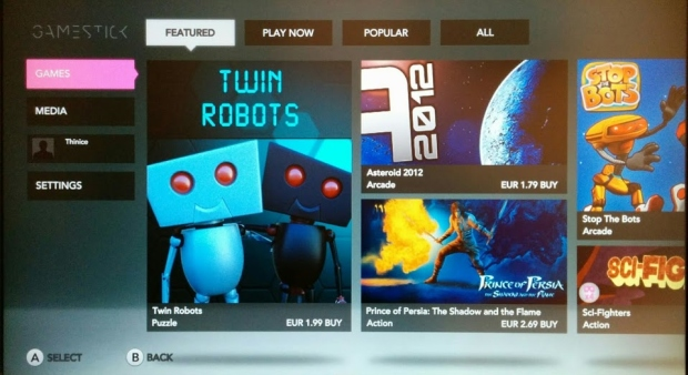 Twin robots on GameStick